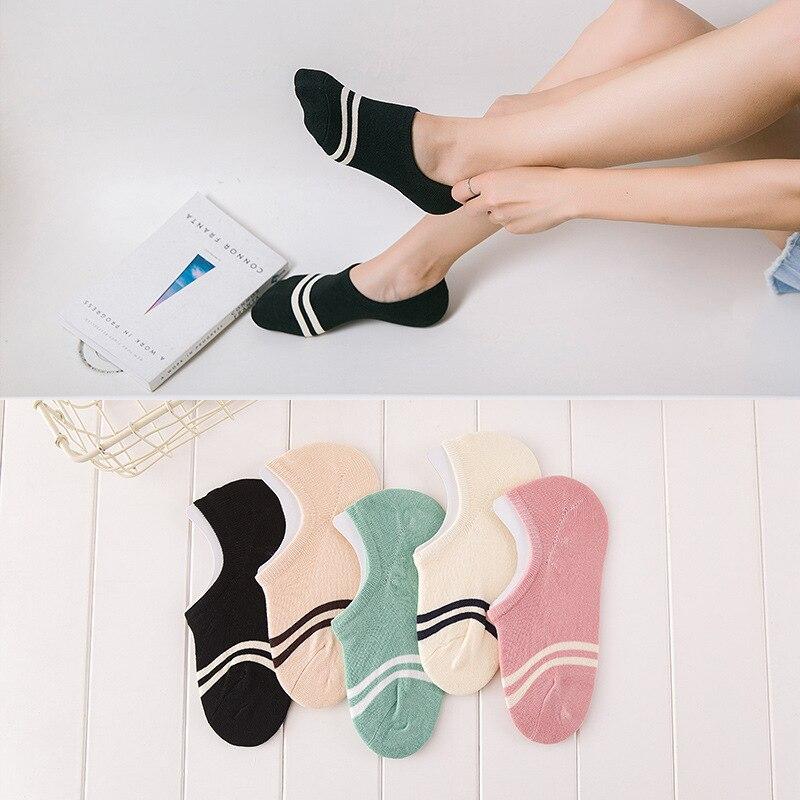 Cómodas medias de algodón para chica, calcetines hasta el tobillo invisibles para mujer, Medias de color para chica y Chico, calcetines náuticos para mujer, 1 par = 2 piezas WS97