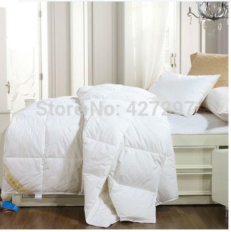 Grade quadrada Duck Down Quilt Doona Consolador Blanket Rei 240X210 cm Ou Fazer Qualquer Tamanho de 450GSM