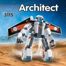 Stadt Creator 3 in 1 Zukunft Flyers Roboter 237Pcs modell Bausteine Kinder bildung Spielzeug für kinder geschenke Kompatibel mit Spielzeug