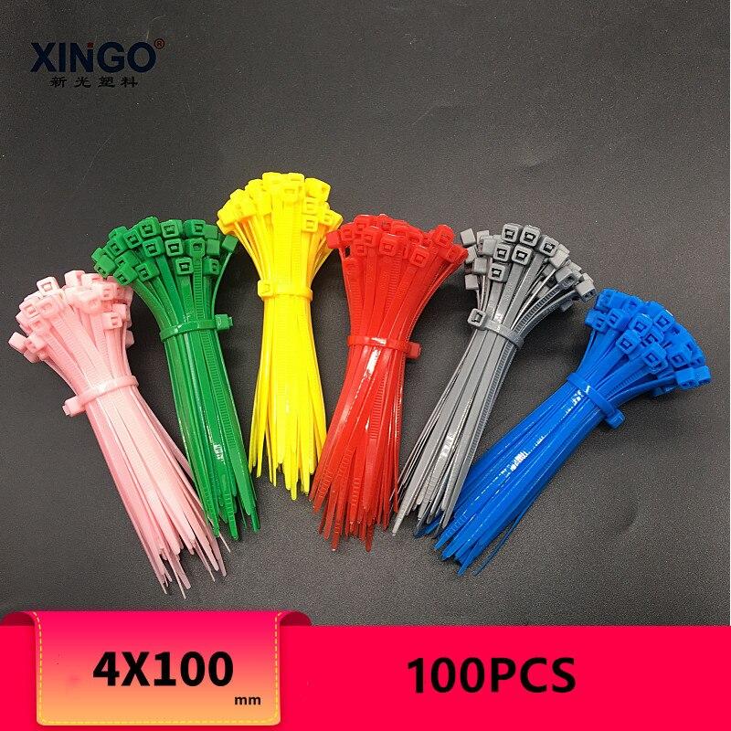 Xingo 14 Polegada duplo bloqueio resistente único cabeça lisa bloqueio design cabo de náilon zip laços para macio 100 pacote