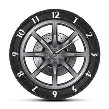 Car Service Custom Name Clock Repair Tire Wheel Vintage Cool Wall Clock Car Workshop Mechanic Gift Room Decorative Clock