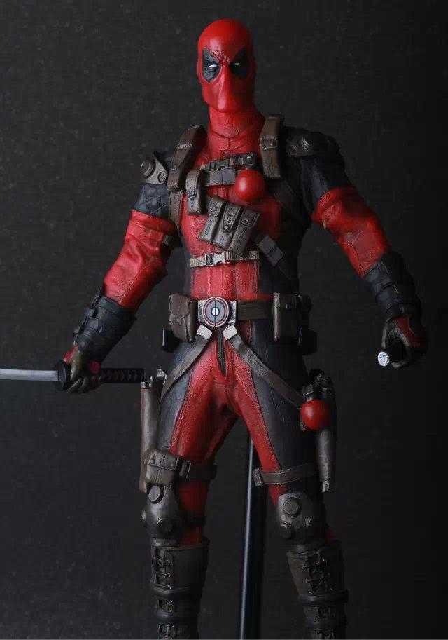 "Crazy Toys Marvel X-men 12"" 30cm Deadpool Red & Sliver Color PVC Action Figure Collectible Model Toys"