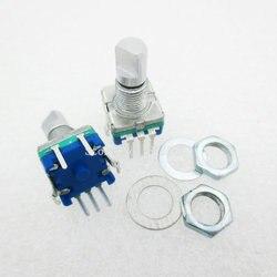 5 шт./лот, ручка слива, 15 мм, роторный кодирующий переключатель/EC11/цифровой потенциометр с переключателем, 5-контактный