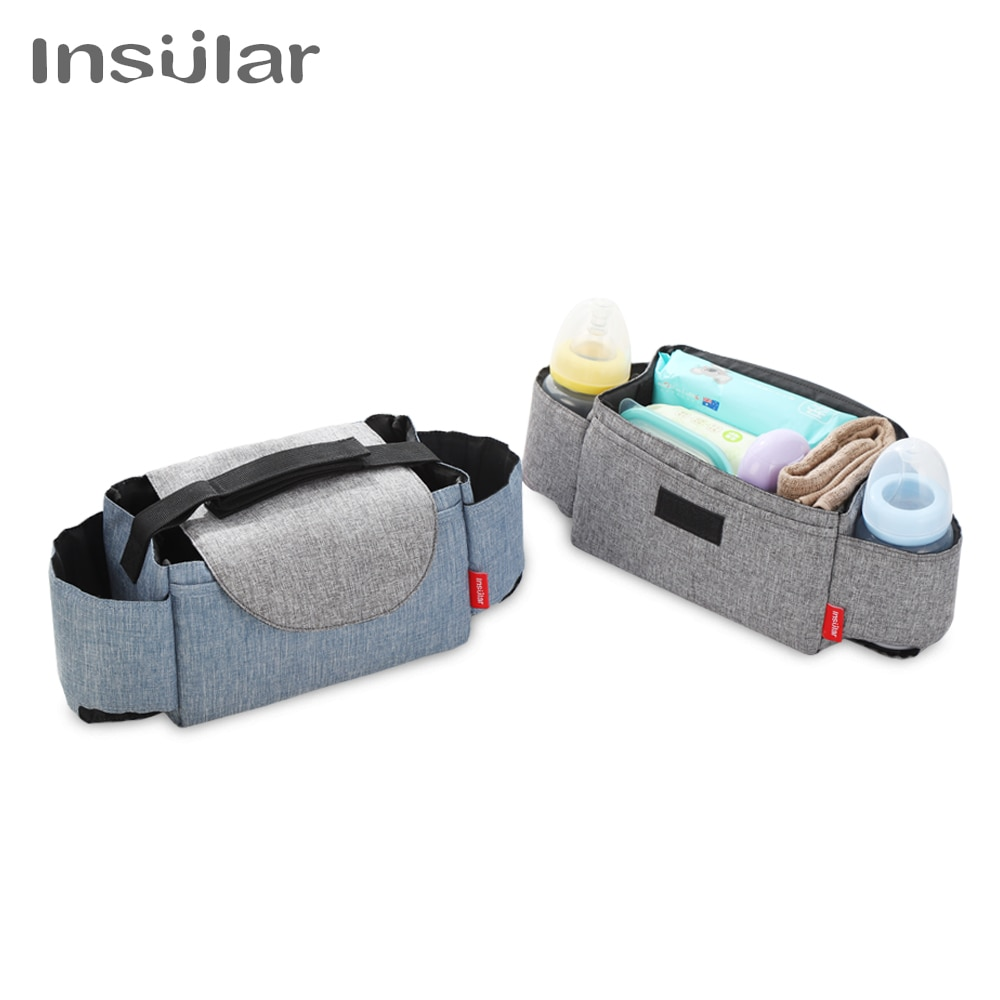New Baby Diaper Bag Nappy Stroller Bags Stroller Organizer Mummy Travel Diaper Bags Hanging Carriage Pram Buggy Cart Bottle Bags