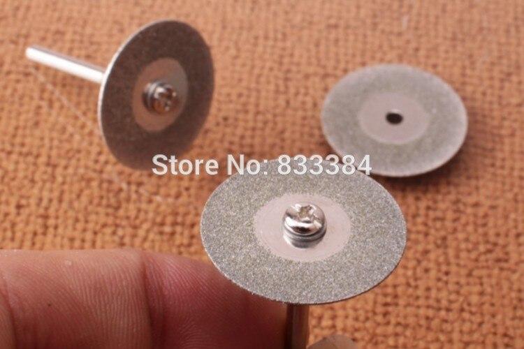 ¡Alta dureza! Discos de 5 piezas y 1 arbour 50mm Mini piedra jade cristal diamante corte discos Dremel hoja herramientas joyería baja precio