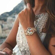 BOBO VOGEL Schmetterlinge Frauen Uhren mit Original Bambus Holz Fall Uhr Damen Quarz Drop Verschiffen OEM L-O20