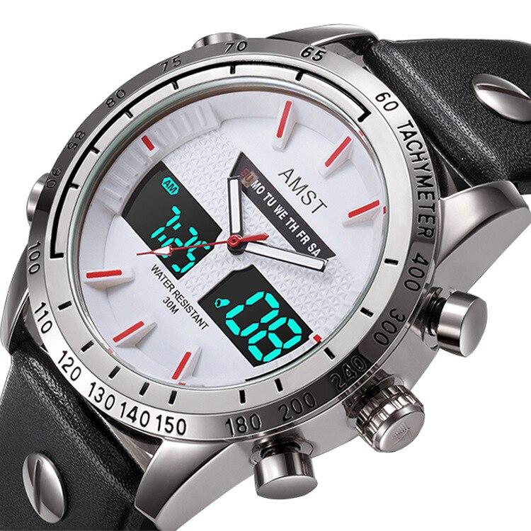 2020 novos relógios amst esportes lazer à prova dwaterproof água relógio eletrônico moda quartzo atacado estilo quente relógio masculino estudantes