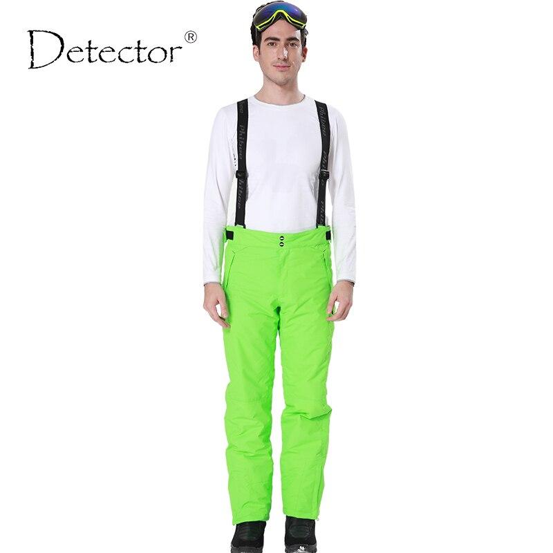 Detector novo ao ar livre à prova de vento à prova ddouble água respirável dupla camada inverno calças esqui neve calças snowboard homem