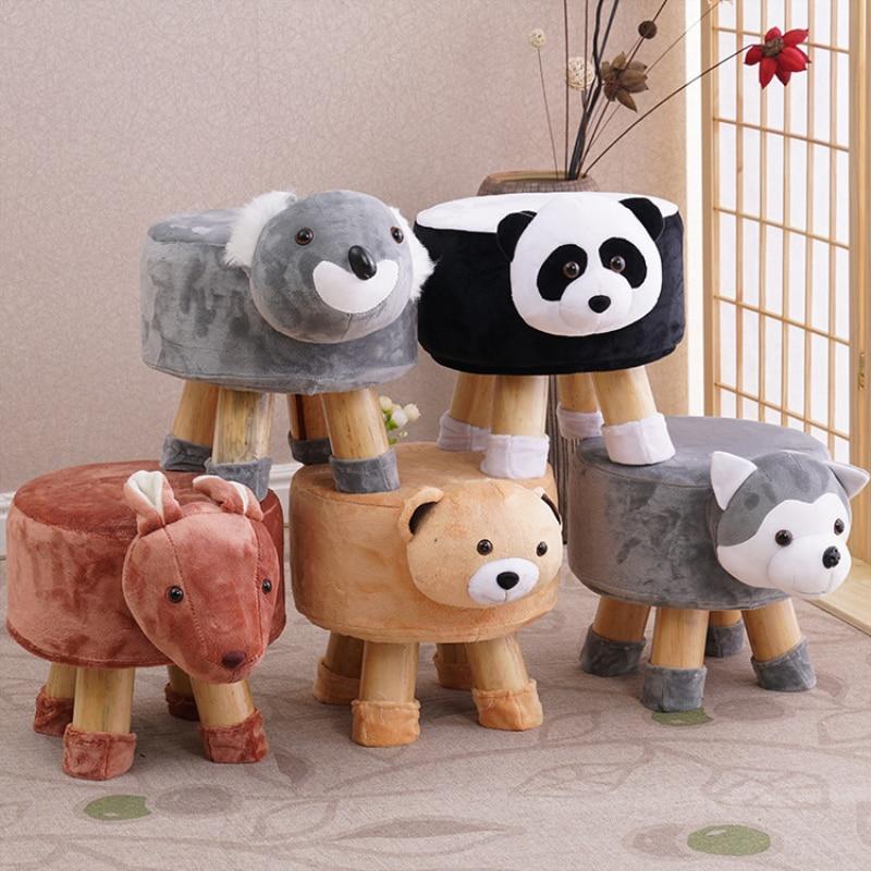 Детские стулья с животными, деревянный стул, милый стул с рисунком для детей