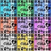 Peinture diamant  chats doux maison   broderie complete 5D  perles carrees ou rondes  motif  point de croix  mosaique  decor de maison  a faire soi-meme