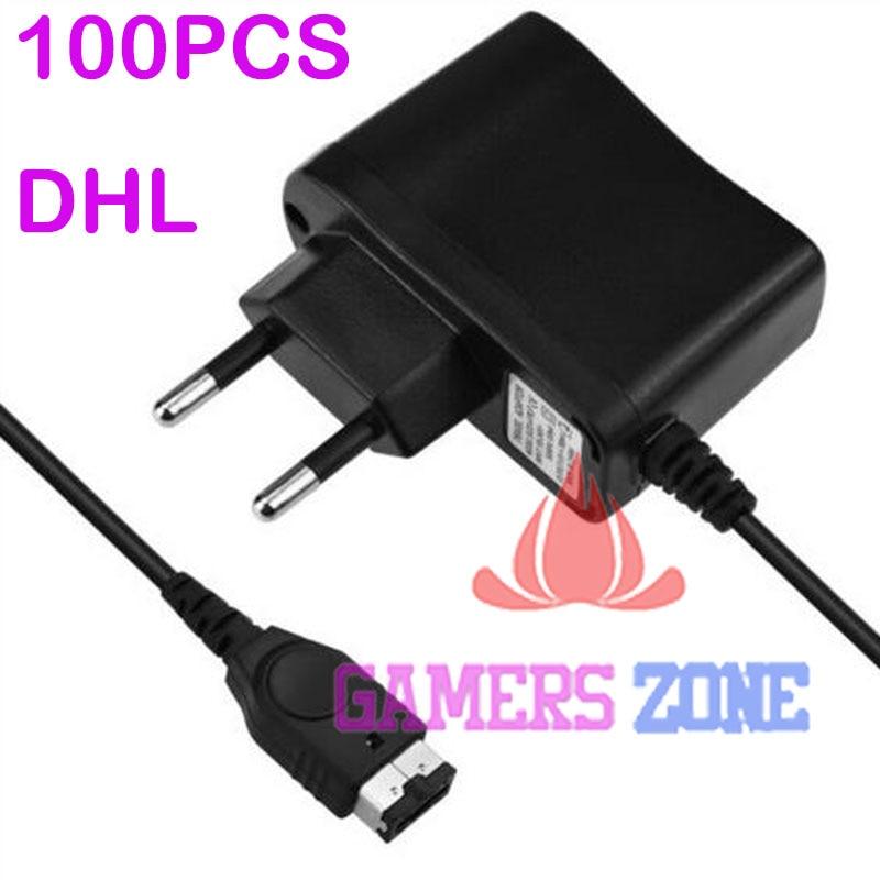 100 Uds de CA de la UE adaptador/cargador de energía para Nintendo DS y NDS GBA SP