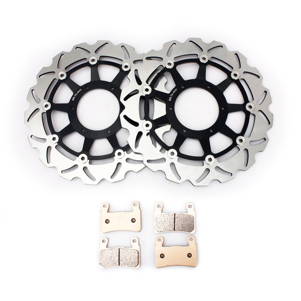 BIKINGBOY frente discos de freno discos rotores almohadillas para Honda VTR 1000 SP1 2000 2001 VTR 1000 SP2 2002, 2003, 2004, 2005, 2006