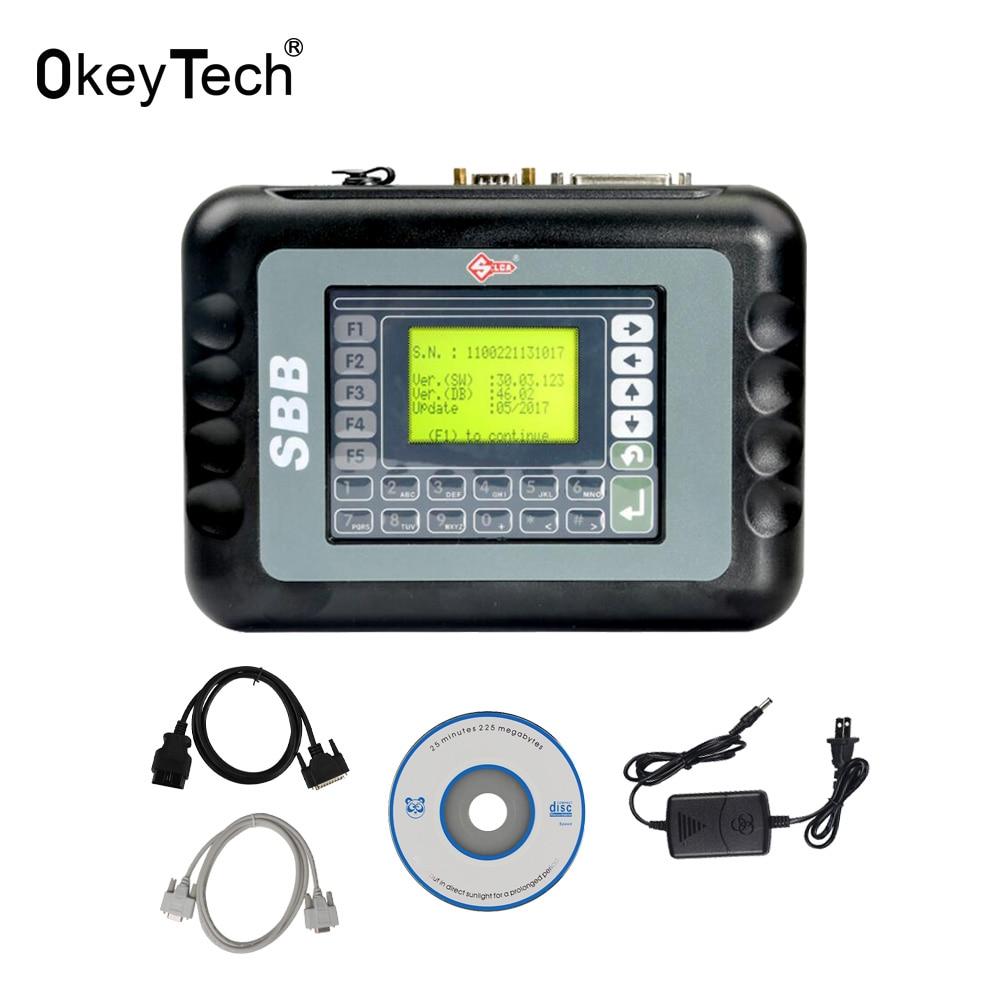 Herramienta de programación automática OkeyTech SBB V46.02 2018 última versión 46,02 Silsa SBB OBD2 fabricante de llaves para Toyota G Chip Multi-idioma