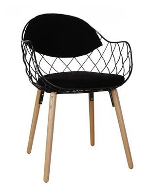 Moderna, silla de sofá para una sola persona de hierro forjado. Paquete suave de tela creativa para café