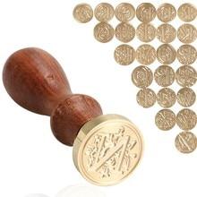 Sceau sceau de cire rétro 26 lettres Alphabet a-z   Tampon en bois, remplacer une tête en cuivre, outils de bricolage, cire à sceller
