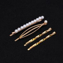 1 juego 9 Clips de pelo ondulado de Metal Barrette con perla accesorios para el cabello de mujer trenzados bonito peluquería