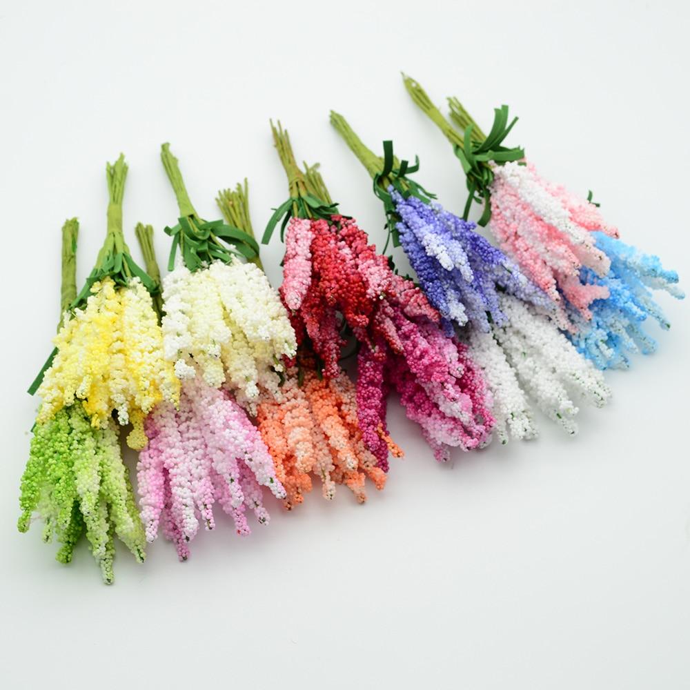 Fleurs artificielles en mousse PE 10 pièces   Accessoires de décoration de mariage de maison, faux vases floristiques de noël, bricolage couronne de cadeaux, fleurs artificielles