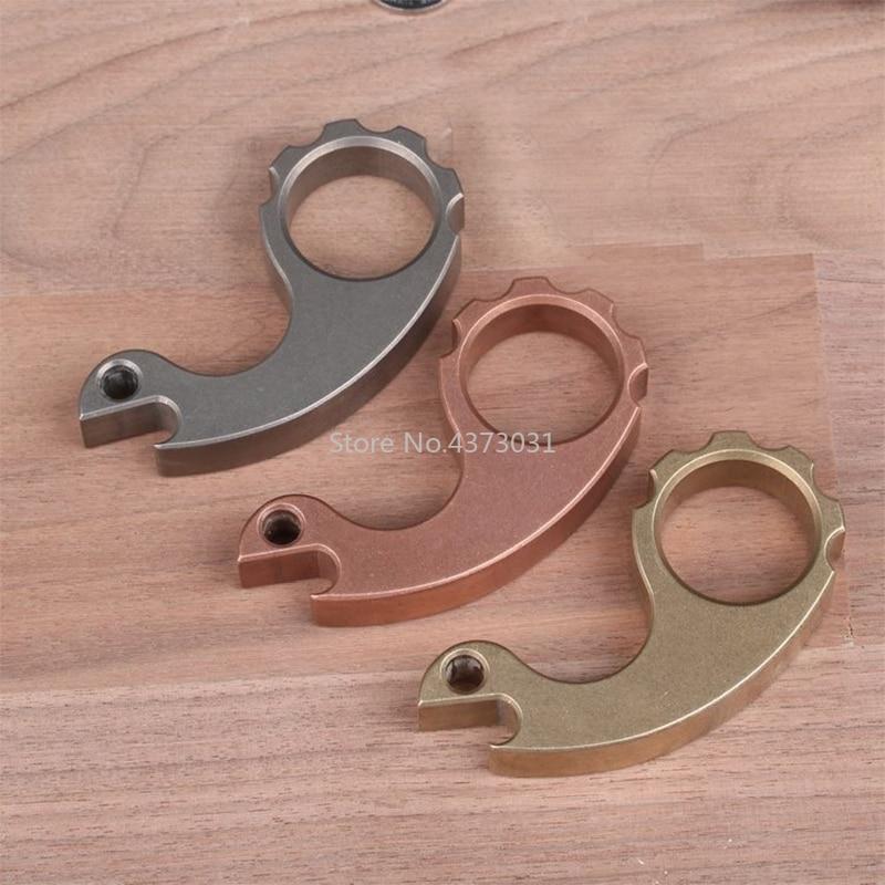Exquisite DIY Knife Anodized brass copper Titanium alloy TC4 Colorful Lanyard Pendant -snails helmet bead