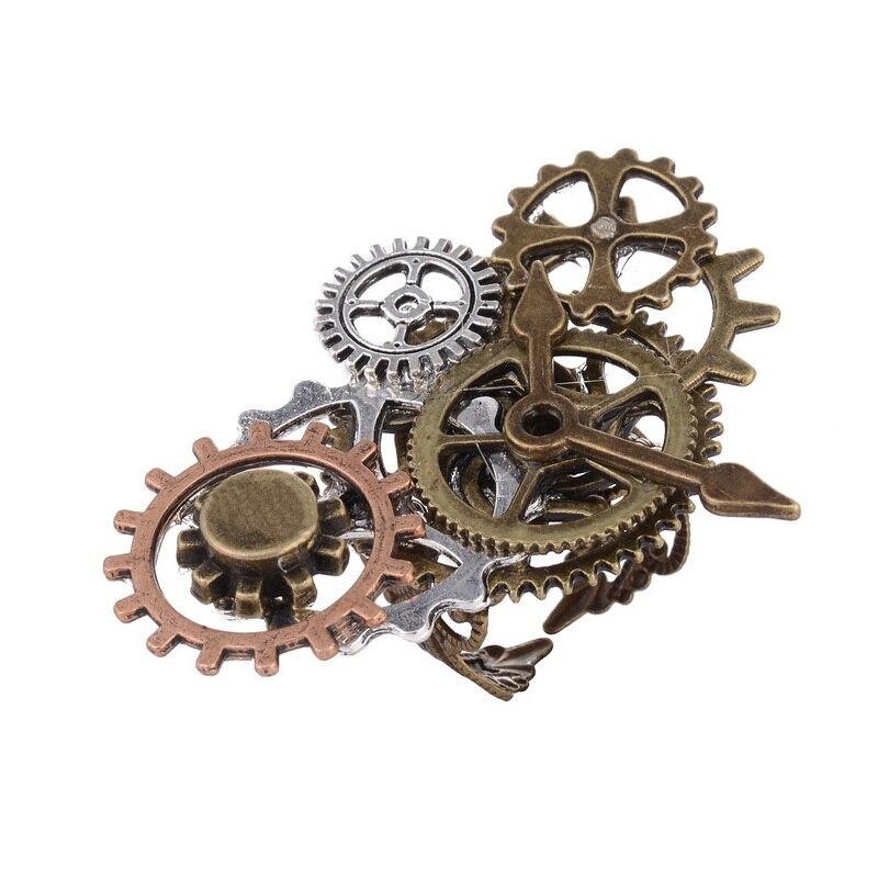 Lostalgic промышленная сцена различные части шестерни Overlayed с часовым указателем кольцо в стиле стимпанк
