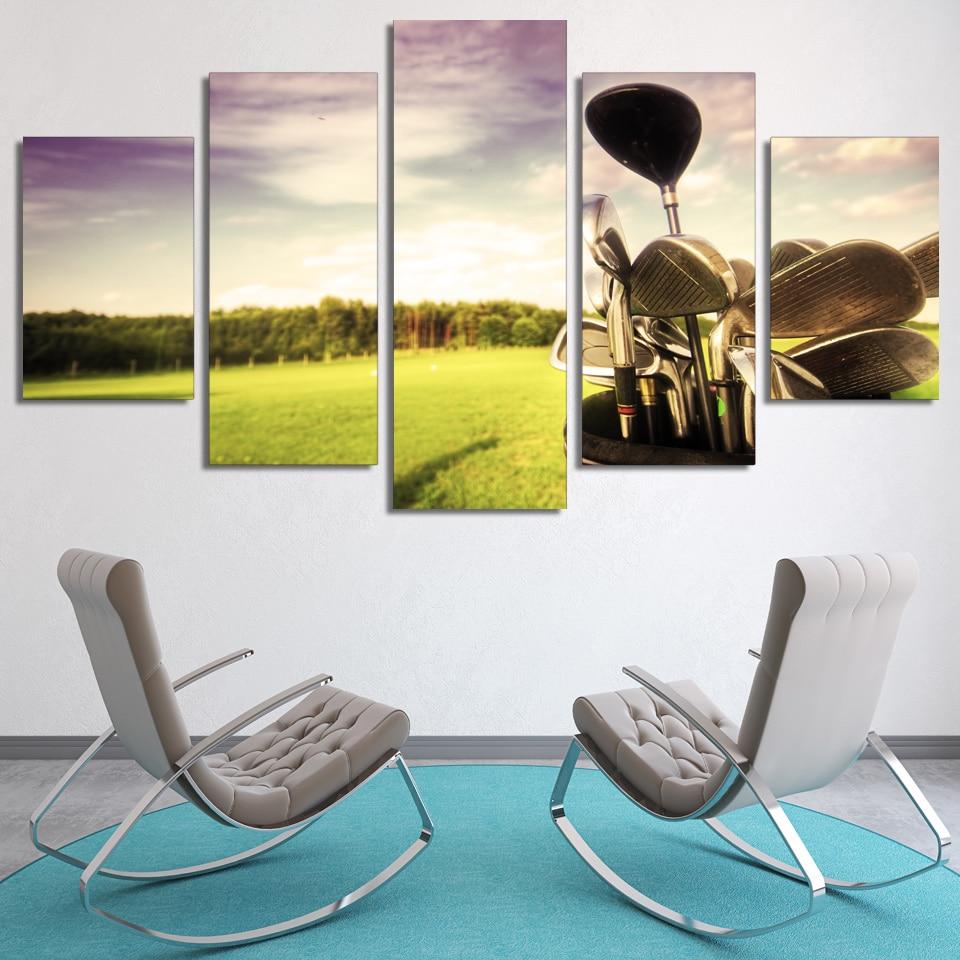 5 uds de Golf profesional de golf arte hogar Decoración lienzo pintura foto cartel impresiones envío gratis ff-6826B