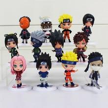 12 Teile/los Japan Jump Naruto Action Figure Kakashi Sakura Sasuke Itachi Obito Gaara PVC Spielzeug Modell Puppe 37cm