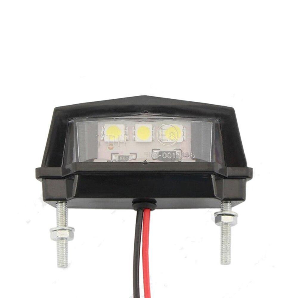 Miniluz LED trasera para motocicleta, luz trasera para matrícula de motocicleta, luz trasera para Honda, Kawasaki, Yamaha y Suzuki
