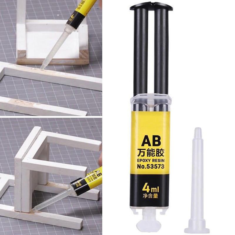 Pegamento Universal de resina epoxi AB de 4ml, reparación de adhesivo fuerte para cerámica de vidrio de plástico Hogard JA11