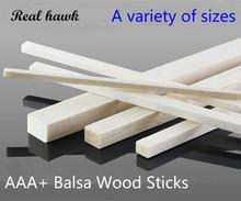 50 pcs/lot 300mm long 2X2/3X3/4X4/5x5/6x6mm Square long wooden bar AAA+ Balsa Wood Sticks Strips for RC plane boat model DIY