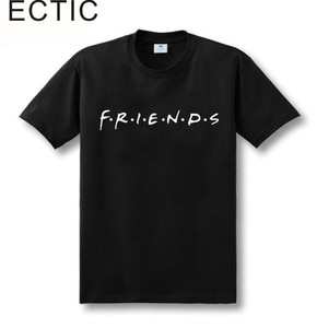 ECTIC Friends NBC Tv Show Funny T Shirt 6 colours size XS-XXL Unisex top tee High Quality 100% cotton free shipping