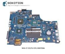 NOKOTION CN-0V98DM 0V98DM portátil placa base para Dell Inspiron 17R-3721 5721 Tablero Principal VAW11 LA-9102P I7-3537U CPU HD8700M