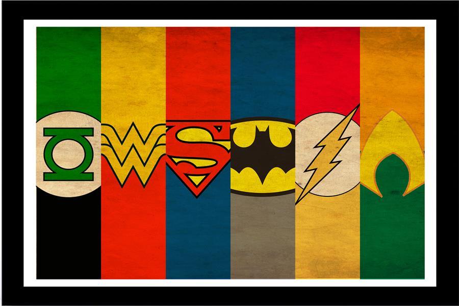 Lienzo personalizado, arte de superhéroes, papel tapiz, Mural de pared de Batman, Flash, DC, cómic, Joker, pegatinas de pared, póster de Hulk, decoración de Superman