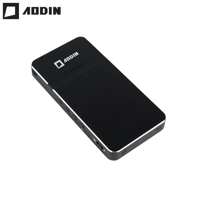 AODIN-جهاز عرض جيب صغير D16 ، محمول ، بدون نظام Android/Linux ، Micro LED ، DLP ، مع بطارية ، مدخل HDMI ، USB 2.0 ، فيديو عالي الدقة