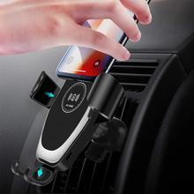 Support de voiture 10W Qi chargeur sans fil pour IPhone 11 Pro XS Max X XR 8 charge rapide sans fil support de téléphone de voiture pour Samsung S10 S9 S8