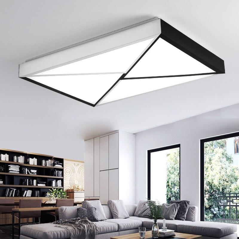 Eenvoudige moderne creatieve home ligh vierkante plafond led lamp zoete Warme slaapkamer lamp kan veranderen kleur 48w of 64w voor slaapkamer studie