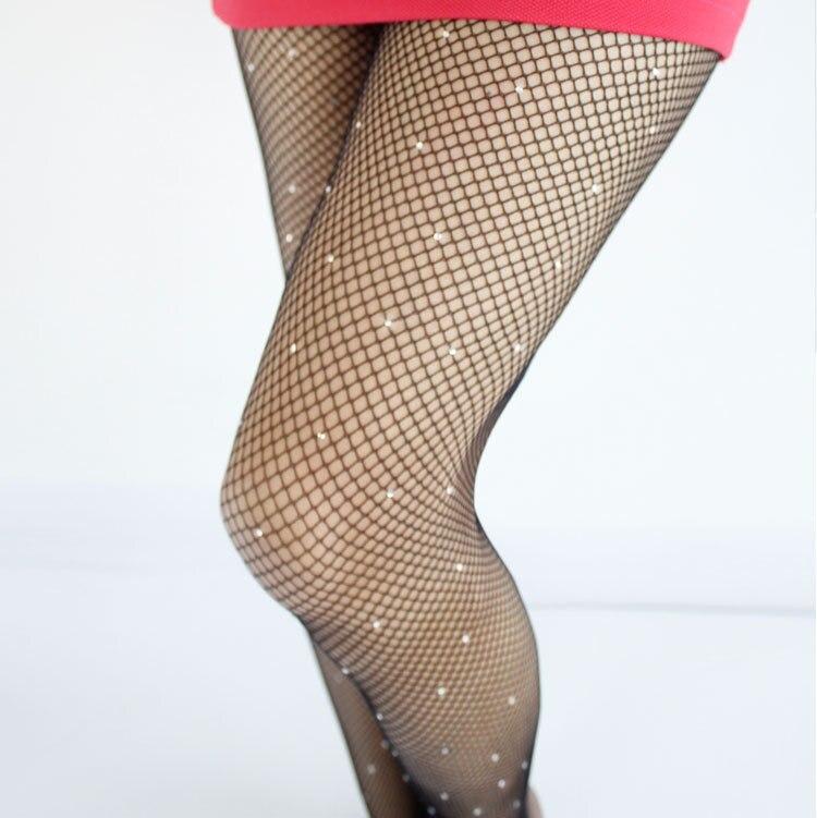 Sexy diamante das mulheres senhora meninas preto sexy fishnet padrão jacquard meias strass meia-calça estilos mulher tt041