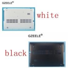 GZEELE, nuevo para Lenovo Ideapad Z510, cubierta inferior para ordenador portátil, minúscula, negra/blanca, AP0T2000900 90204002, AP0T2000110 90204001