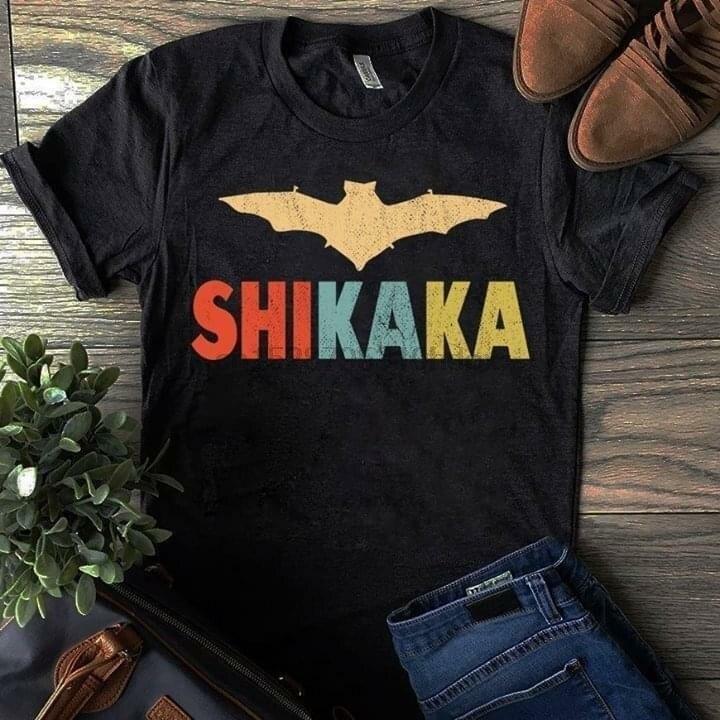 Ace Ventura Shikaka, camiseta retro de murciélago para hombre, algodón negro S 4Xl