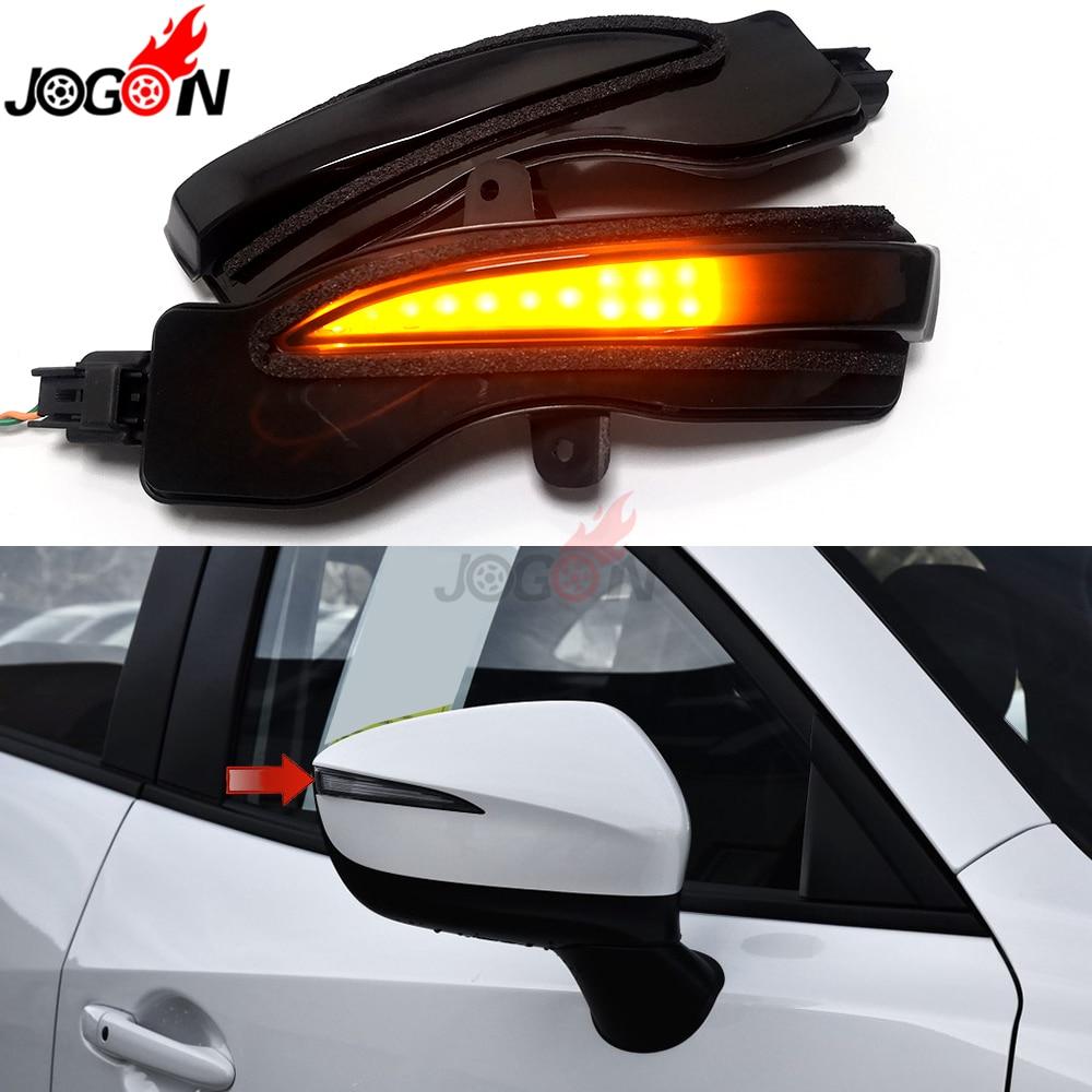Negro para Mazda CX-3 2016-2019 CX-4 CX-5 KE 2016 llevó luz de señal de giro lateral espejo retrovisor indicador secuencial