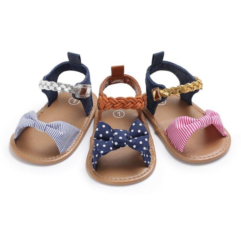Zapatos blandos antideslizantes para primeros pasos de 0 a 12M, para niñas pequeñas, de verano