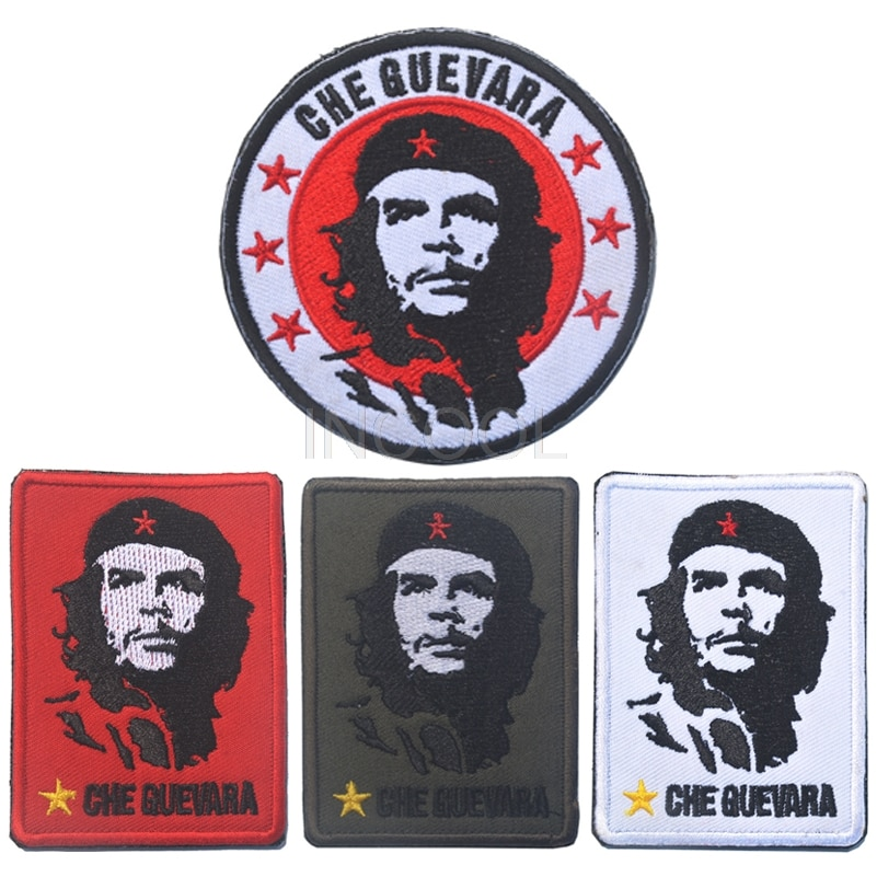 Bordado remendo che guevara exército moral remendo emblema emblema tático bordado remendos militar aplique 8 cm