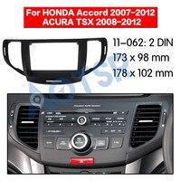 Car radio frame Fascia for HONDA Accord 2007-2012 ACURA TSX 2008-2012 Installation Car DVD Frame Adapter Frame