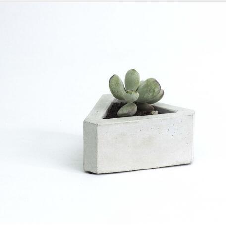 Cemento geometría triángulo 3d flor miniatura máquina multi-carne cemento olla personalizado creativo molde