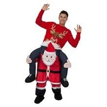 Ride-on Animal Trajes de papai Noel Natal Piggyback Cosplay Roupas de Festa do Dia Das Bruxas Carnaval Pai Adulto Passeios a Cavalo Brinquedos