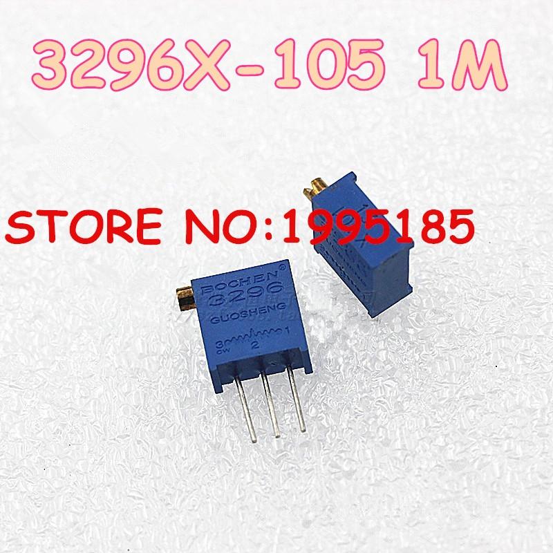 10 pçs/lote 3296X-1-105LF 3296X1 m 3296 Potenciômetros original Novo tom Lateral