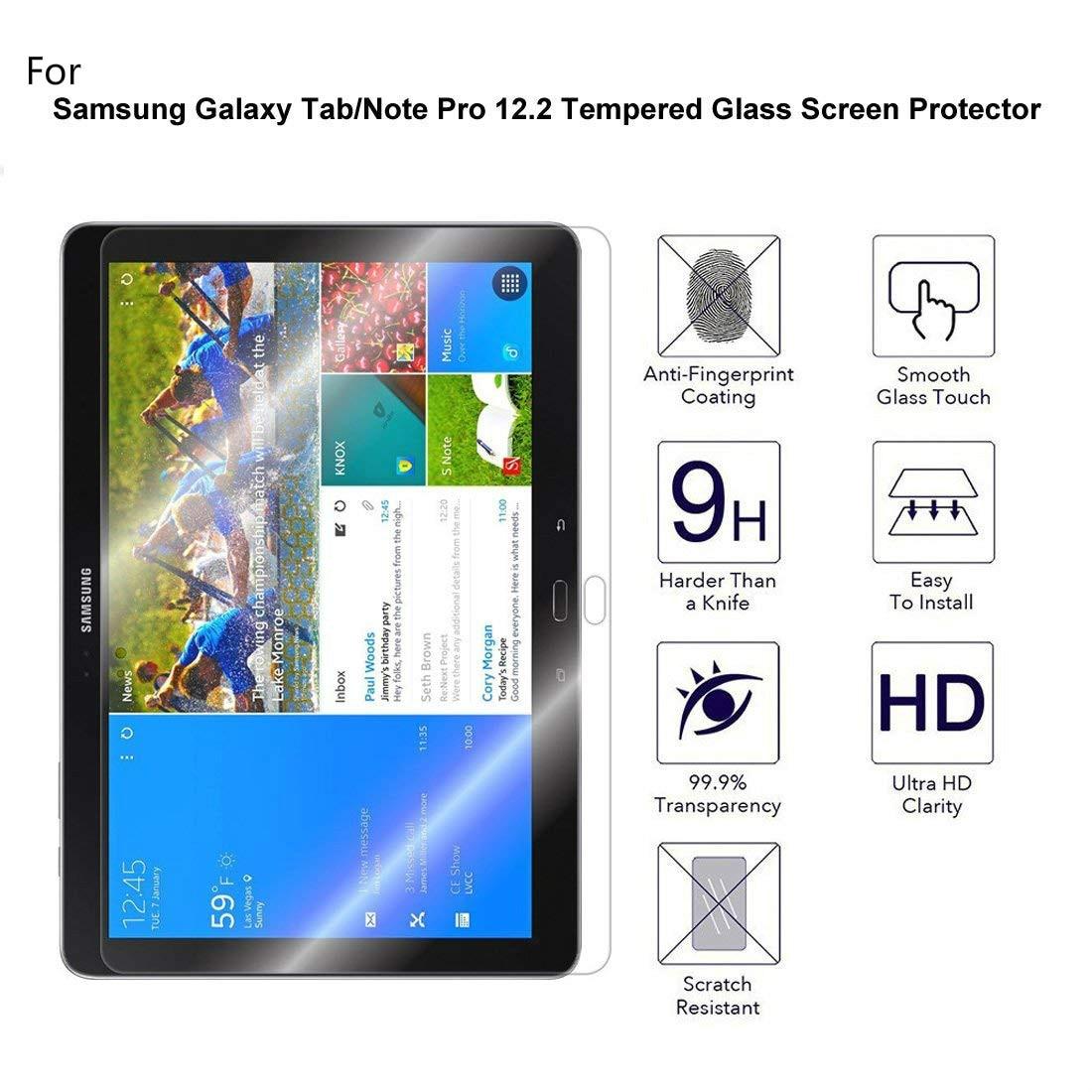 P901 Protector de pantalla de vidrio templado para samsung galaxy note pro 12,2 pulgadas P900 P901 P905 SM-P900 Tablet Protector de pantalla