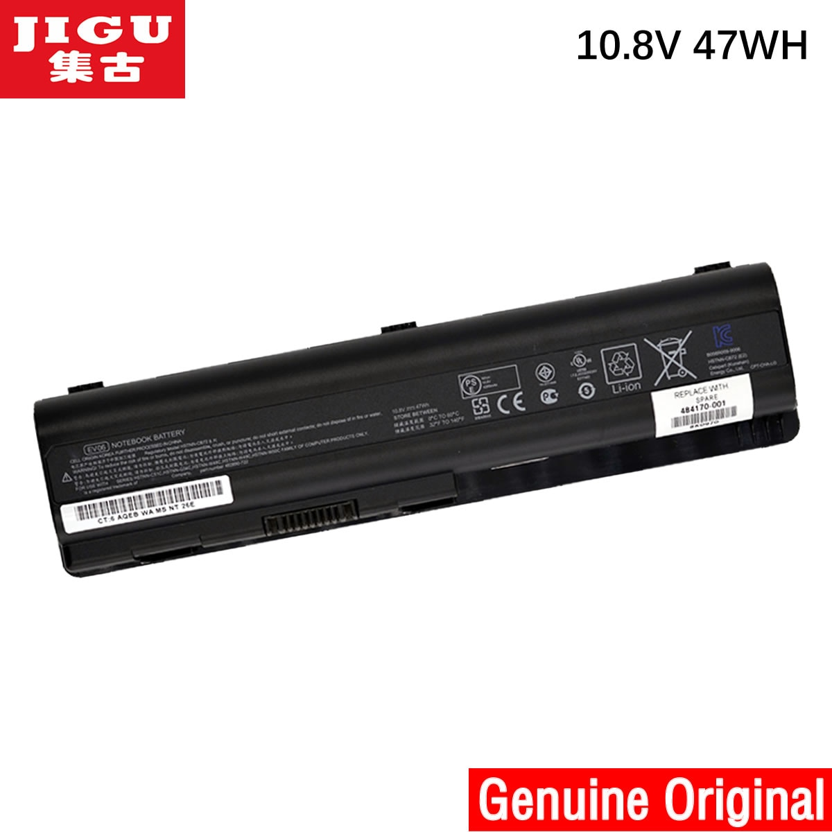 JIGU 487296-001 487354-001 497694-001 497694-002 497695-001 498482-001 500028-131 Original Laptop Ba