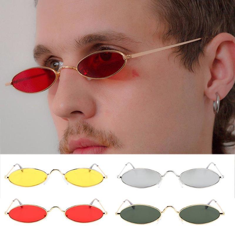 Retro redondo óculos de sol para mulheres homens pequenos oval liga quadro verão estilo unisex óculos de sol feminino masculino