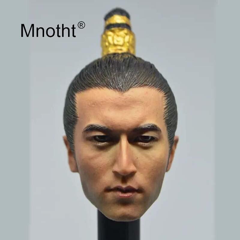 Escala 16 cabeza de soldado masculino esculpir traje antiguo Nicolás Tse cabeza tallada para 12 pulgadas figura de acción juguete película estrella modelo Mnotht