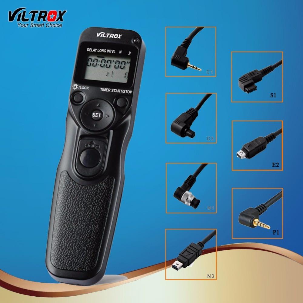 Viltrox камера беспроводной Таймер спуска затвора дистанционное управление для Canon 77D 5D Mark IV Nikon D80 Pentax Panasonic Olympus DSLR