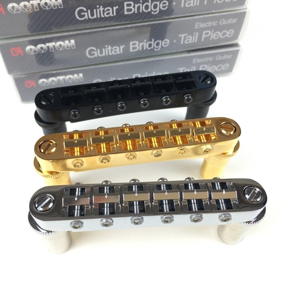 Puente de guitarra eléctrica de estilo Tune-o-matic Original GOTOH GE103B-T para el estándar Epip LP SG DOT hecho a medida en Japón